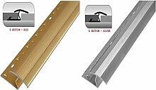Sweet House Holz, Teppich, Vinyl, Fliesen & Laminat Trim Einfassung Metall gold/silber, gold, Z BAR STRIP