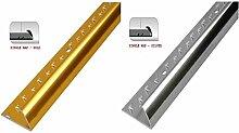 Sweet House Holz, Teppich, Vinyl, Fliesen & Laminat Trim Einfassung Metall gold/silber, gold, CARPET EDGE STRIP