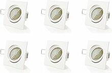 sweet-led 6 x flacher Einbaustrahler LED, 230V,