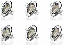 Sweet-led Set 6 x GU10 Einbaustrahler LED, 230V,