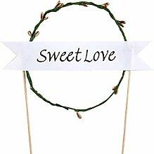 Sweet Love Tortenaufsatz Hochzeit/Silberhochzeit, Fancy Hochzeit Geburtstag Party Backen Kuchen Dekoration