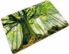 Sweet Luck Grün Baum Wald Fußmatte Türmatte