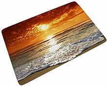 Sweet Luck Sonnenuntergang Ozean Welle Fußmatte