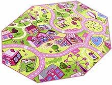 Sweet Town HEVO® Teppich | Spielteppich | Kinderteppich 200 cm Achteck