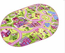Sweet Town HEVO® Teppich | Spielteppich | Kinderteppich 200x280 cm Oval