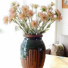 Sweetdecor 3 Stück Krabbenbeine Chrysantheme 3 Zweige künstliche Blumen Kunstblumen Hochzeit Party Hause Blumenstrauß Home Dekoration Pflanze Blumen Hotel Garten Dekor
