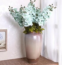Sweetdecor 5 Stück Garten-Feldrittersporn Delphinium künstliche Blumen Kunstblumen Hochzeit Party Hause Blumenstrauß Home Dekoration Pflanze Blumen Hotel Garten Dekor