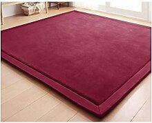 Sweetdecor Coral Samtteppich Kinder kriechen Teppich Kissen Matratze Tatami-Matte Ideal Für Wohnzimmer Schlafzimmer Esszimmer Viele Größe Und Farben vorhanden