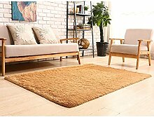 Sweetdecor Hochflor Shaggy Teppich Langflor Carpet Wohnzimmer Einfarbig Rechteck Kinder Kriechen Teppich Kissen Matratze Tatami-Matte Ideal Für Wohnzimmer Schlafzimmer Esszimmer Viele Größe Und Farben vorhanden