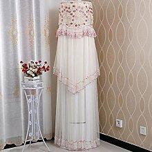 sweetdecor Klimaanlage Anti Dust Cover mit Spitzen-Stoff für Innen zum Aufhängen Klimaanlage, Spitze, DandelionPink, Height180cmDiameter43cm
