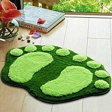 Sweetdecor Nette Füße Shaggy Teppich Hochflor Teppiche Antirutschmatte 4 Farben vorhanden, Ideal für Wohnzimmer, Esszimmer,Schlafzimmer und Badzimmer Grösse: 58.5*38.5 cm