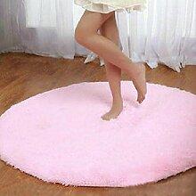Sweetdecor Runder Shaggy Teppich Hochflor Yoga Teppiche Bereich Teppich Schlafzimmer Matten Nordic Art und Weise Teppich Wohnzimmer Kaffeetisch Großer Teppich Schlafzimmer Studie Teppich Teppich Teppich Bad Matten