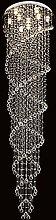 SWENT Moderne einfache/Retro/LED Pendelleuchten LED Decke Kronleuchter Lichter Pendelleuchte Lampe Beleuchtung Fixtures mit K9 Crystal Doppel Spirale D70CM H300CM CE FCC UL, 220-240V, Warm White
