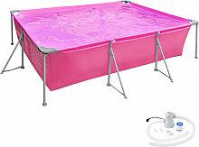 Swimming Pool rechteckig mit Filterpumpe 300 x 207