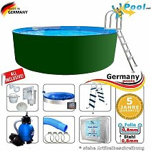 Swimmingpool 5,00 x 1,25 Set Stahlwandpool 5 m Schwimmbecken Rundpool 5,0 x 1,2 Stahlwandbecken Folienpool Einbaupool Fertigpool rund Pool Sets Aufstellbecken Pools Gartenpool 500 Komplettse