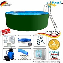 Swimmingpool 5,50 x 1,25 Set Stahlwandpool Schwimmbecken Rundpool 5,5 x 1,2 Stahlwandbecken Folienpool Einbaupool Fertigpool rund Pool Sets Aufstellbecken Pools Gartenpool 550 Komplettse