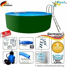 Swimmingpool 7,00 x 1,25 Set Stahlwandpool 7 m Schwimmbecken Rundpool 7,0 x 1,2 Stahlwandbecken Folienpool Einbaupool Fertigpool rund Pool Sets Aufstellbecken Pools Gartenpool 700 Komplettse