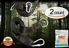 Swing Hanging Gurt Kit [Heavy Duty Haken] by UU für & T Baum Schaukeln & Hängematte accessories-48Zoll Schlaufe mit sicherer Lock Snap Karabiner Haken + Carry pouch- für bis 1000+ lbs [100% wasserdicht]