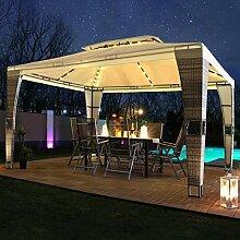 Swing&Harmonie LED - Rattan Pavillon 3x4m Royal