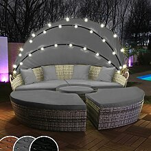 Swing & Harmonie Polyrattan Sonneninsel mit LED