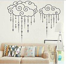 Swirly Clouds Raining Arrows - Aufkleber Für