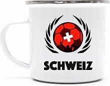 Swiss Wappen Fussball WM Fanfest Metalltasse