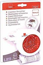SWISSINNO Mini Elektrischer Insekten Vernichter LED 3 W Premium, weiß / rot, 3.5 x 14 x 9.5 cm, 1 243 001