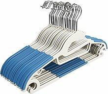 Swteeys 100 Stück Kleiderbügel Samt Platzsparende Anzugbügel mit rutschfester Oberfläche mit zwei Einkerbungen
