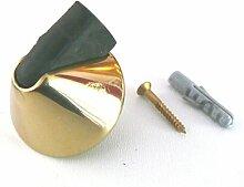 SX-01-15 / 1 WOHNEN - 1 Stück - Tür Stopper - Türstopper - Puffer - Türpuffer - Kegelform - massiv Messing 39 Ø x 24 mm