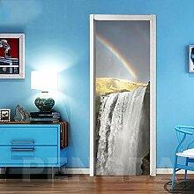 SXJWZH 3D Türaufkleber Regenbogen Fällt