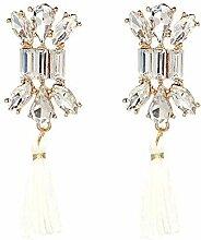 Sxuefang Ohrringe Glas-Set Diamant Fringe Ohrring