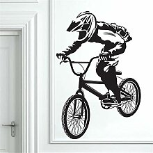 Sxuefang Wandaufkleber Fahrrad Fahren Junge