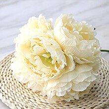 SXWDLHB Künstliche Blumen Hochzeit Bouquet Rose