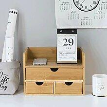 SXY Desktop Aufbewahrungsbox Bücherregal mit 3