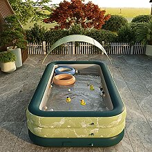 SYFANG Grüner aufblasbarer Pool Planschbecken,