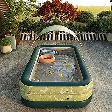 SYFANG Grünes Schwimmbad Kinder Aufstellpool, 3