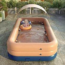 SYFANG Orangefarbenes Schwimmbad Planschbecken