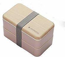 SYGF Bento Box, Kinder Brotdose Holzig,