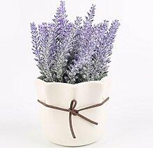 SYHOME Künstliche Blumen Pflanze Kreative vergossen s Minimalistischen silk Blume Home Decorationation Lavendel