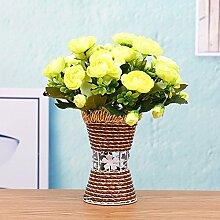 SYHOME Künstliche Fake Blumen Dekoration Esstisch Home Zubehör Kunststoff Rosa