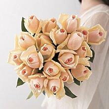 SYHOME Künstliche Fake Blumen Dekoration Esstisch Home Zubehör rose Blumen Blume rosa Seide