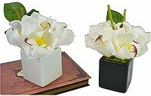 SYHOME Künstliche Fake Blumen Hui Orchid Villa das Hotel Club Home Zubehör Over-the-Counter Möbel Kleine Emulation Floral das Schwarze Flowera