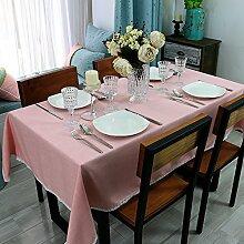 SYHOME Tischdecke Tischtuch Amerikanischen Dorf Kaffee Tee Kunst,Pink 90*140 cm