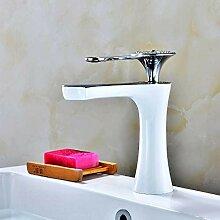 syhua Bemalte weiße Becken Wasserhahn Bad heißen