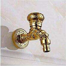 Syhua Wasserhahn Gold Messing Kunst Geschnitzt