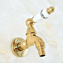Syhua Wasserhahn Poliert Gold Messing Outdoor