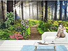 Sykdybz Home Decoration Schöner Wald 3D Wallpaper Tv Hintergrundbild Das Wohnzimmer Sofa Hintergrund Wandmalerei-250Cmx175Cm