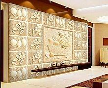 Sykdybz Sandstein Wohnzimmer Fernseher Sofa Hintergrund Wandrelief Wandbilder Wall 3D Wallpaper Home Decoration-350Cmx245Cm
