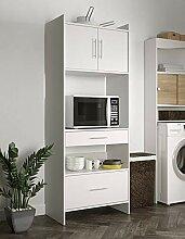 Symbiosis Mobile Küche, Holz, weiß, 70x180x40 cm