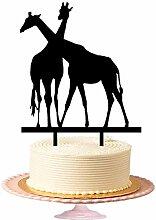 Symbol der Liebe, zwei Giraffe Hochzeit Kuchen